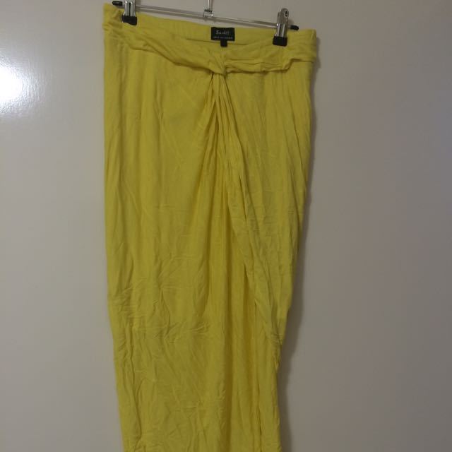 Bardot Yellow Skirt