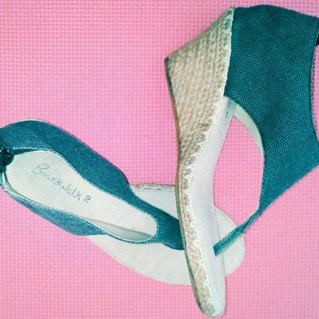 Boardwalk Denim With Native Heels Sandals