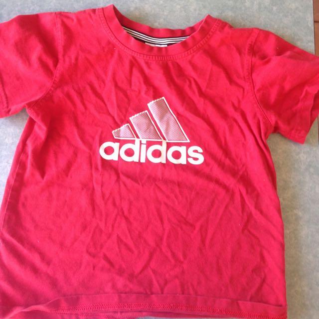 Boys Adidas Shirt Red