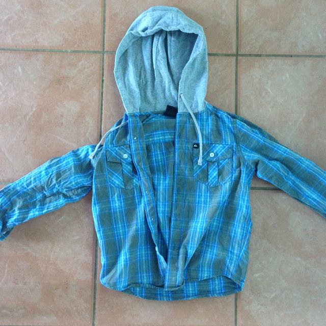 Boys Quiksilver Hoodie Button Up