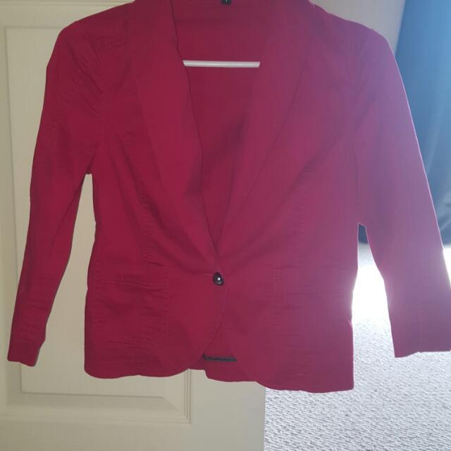 Bright Pink Express Blazer