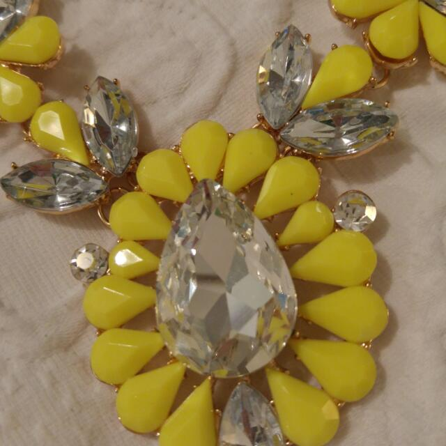 Bright Yellow Necklace