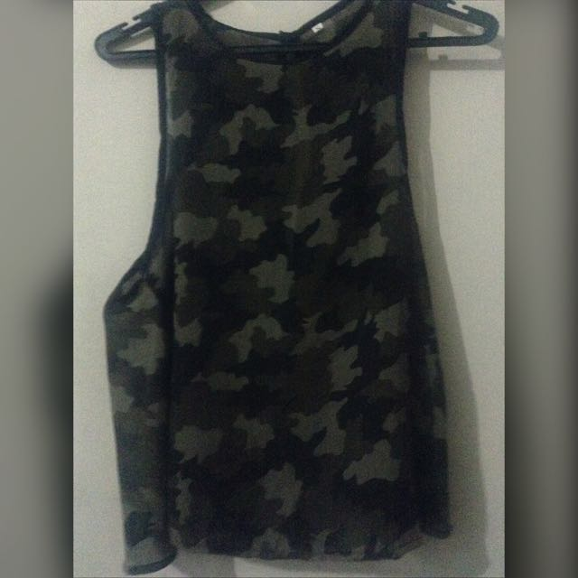 Camouflage Sexy Top