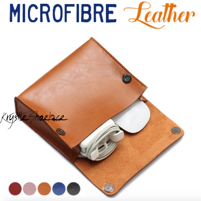 Charger Bag Mouse Bag Genuine Microfibre Leather