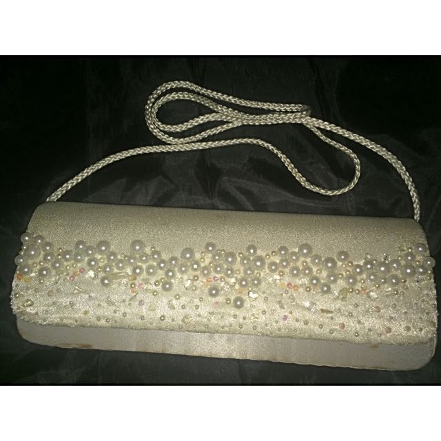 CLUTCH Bag Warna Putih Mutiara Tas Tangan