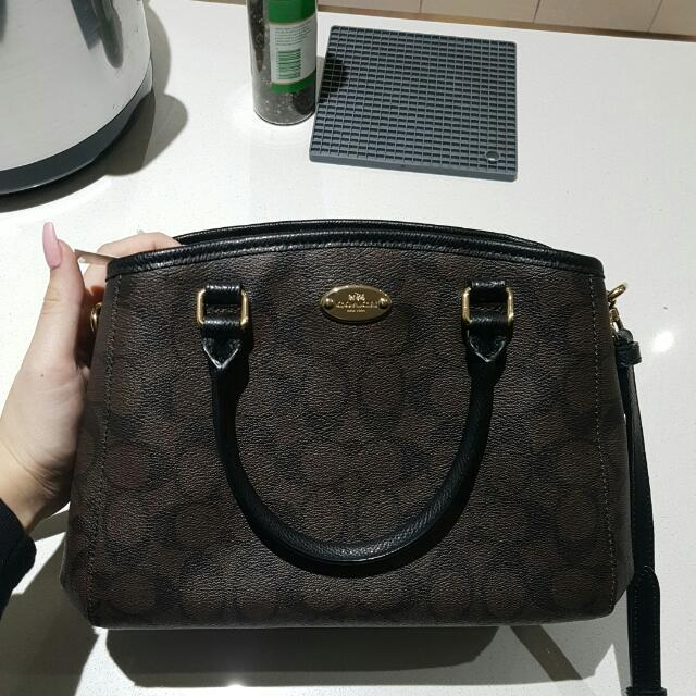 Coach Top Handle Bag With Strap