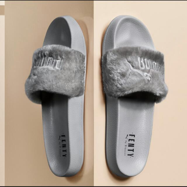 Fenty × Puma Fur Slides