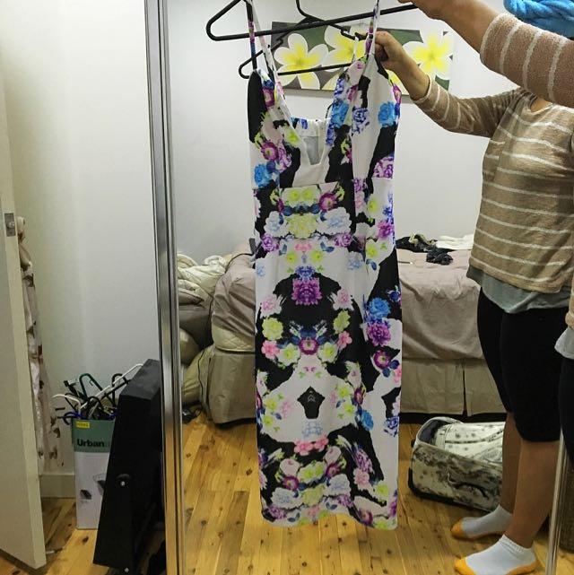 Floral Bustier Dress
