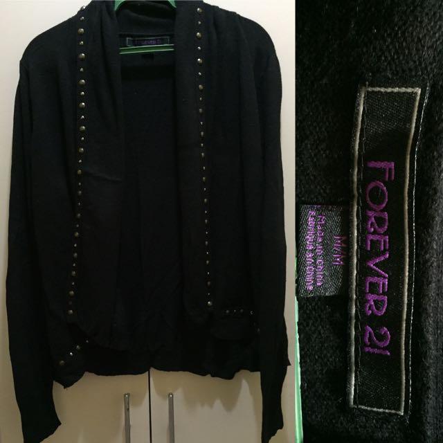 Forever21 Studded Black Cardigan