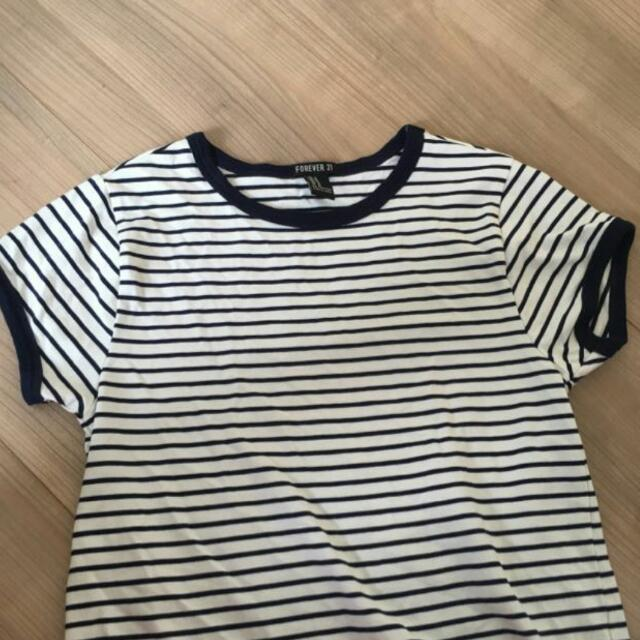 110bbe4e4b PENDING forever 21 striped ringer tee, Women's Fashion, Clothes on ...
