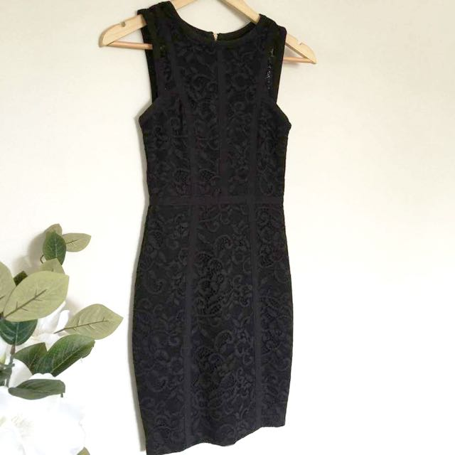 Forever New Lace Black Dress Size 4 Or 6