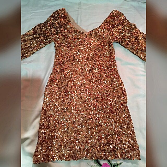 Gold Blink Party Dress