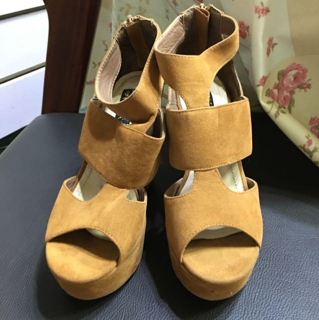 『降價啊』Grace Gift 楔型鞋