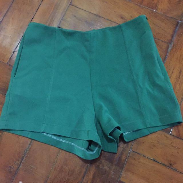 Reserved - Green High Waist Shorts