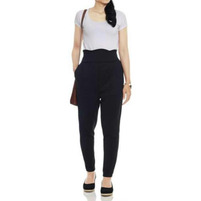 High Waist Scallop Pants