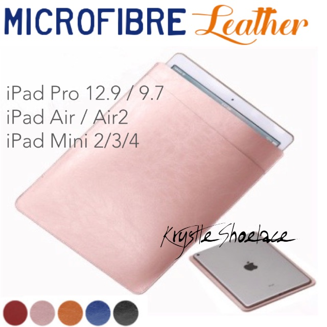 iPad Pro/Air/Mini Samsung Tablet Genuine Microfibre Leather Sleeve Case Pouch