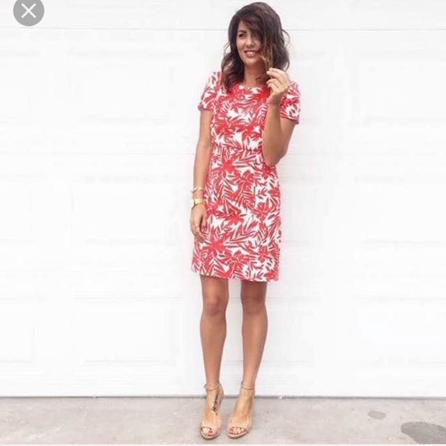 Jillian Harris Red Floral Dress