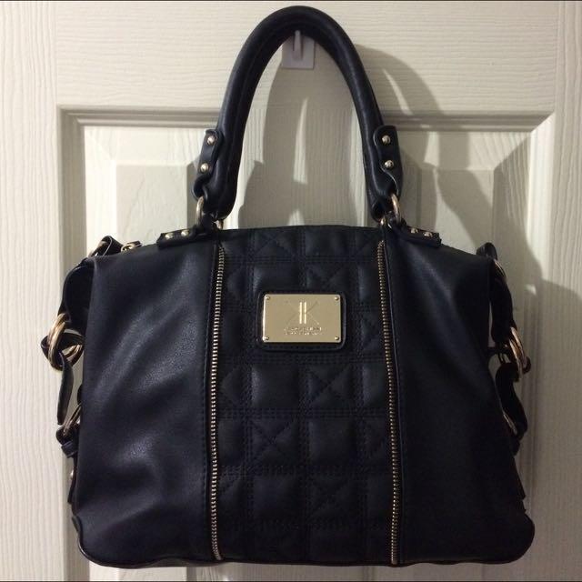 Kardashian Kollection Black Satchel Bag