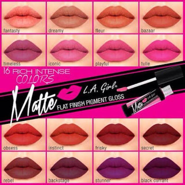 L A Girl Matte Gloss