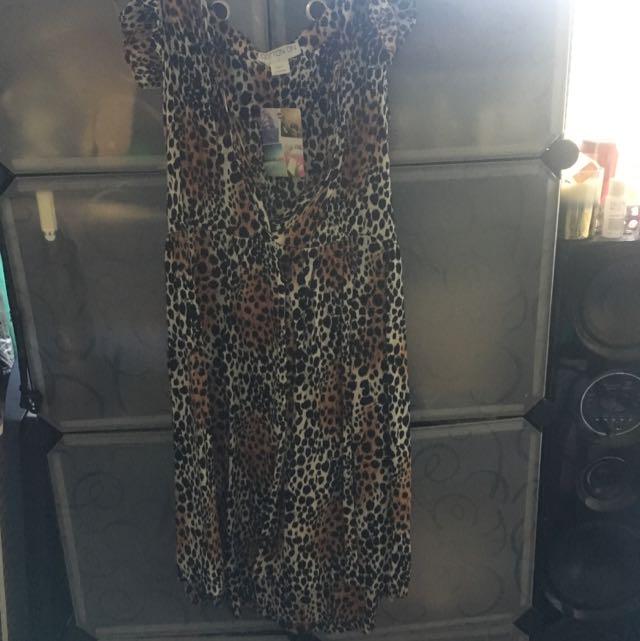 Leopard Print Casual Dress