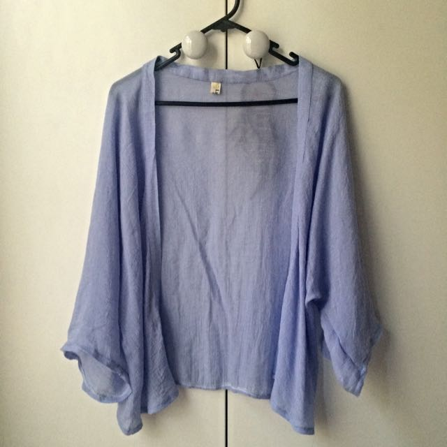 Light Blue Flowy Cardigan - Perfect for summer!
