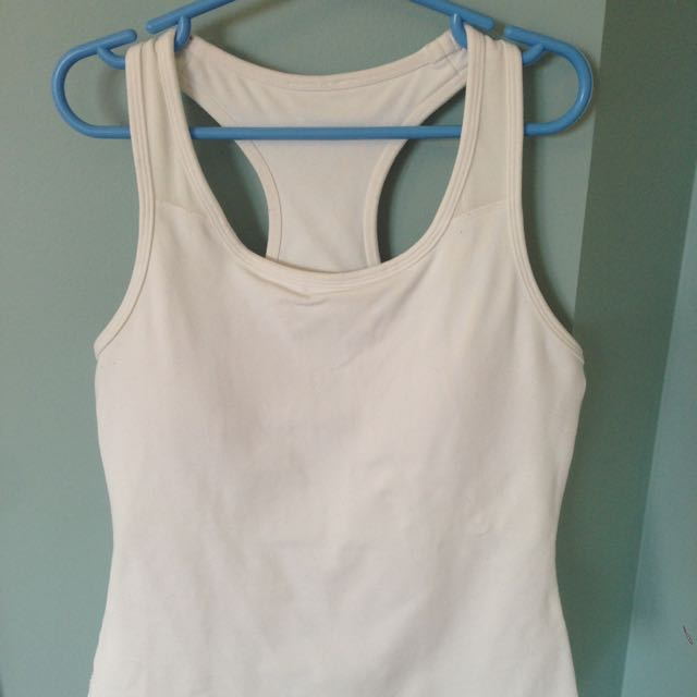 Lululemon Workout Top White