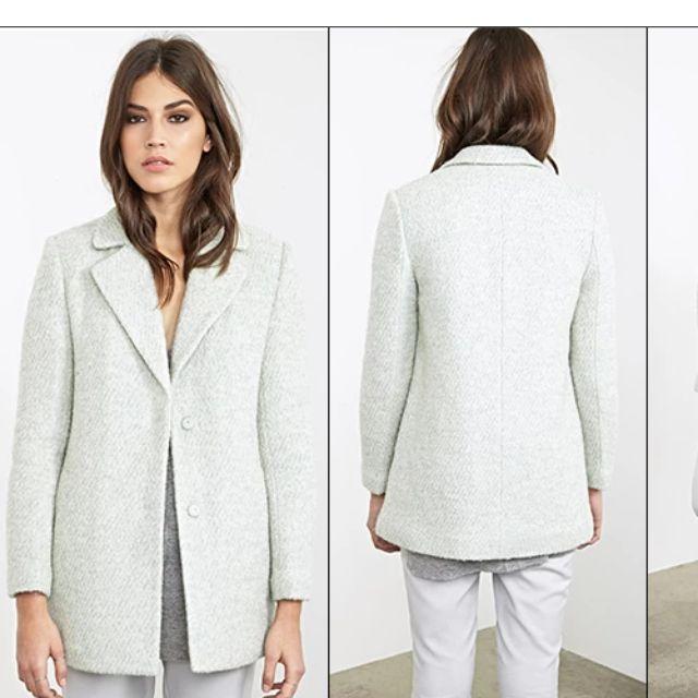 Luxe Bouclé Overcoat (Mint)