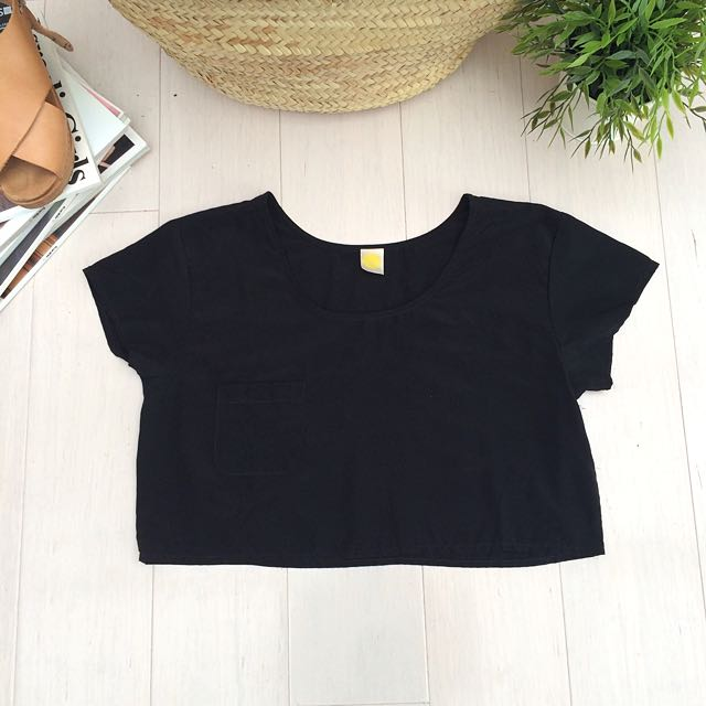 Nasty Gal Black Crop Top