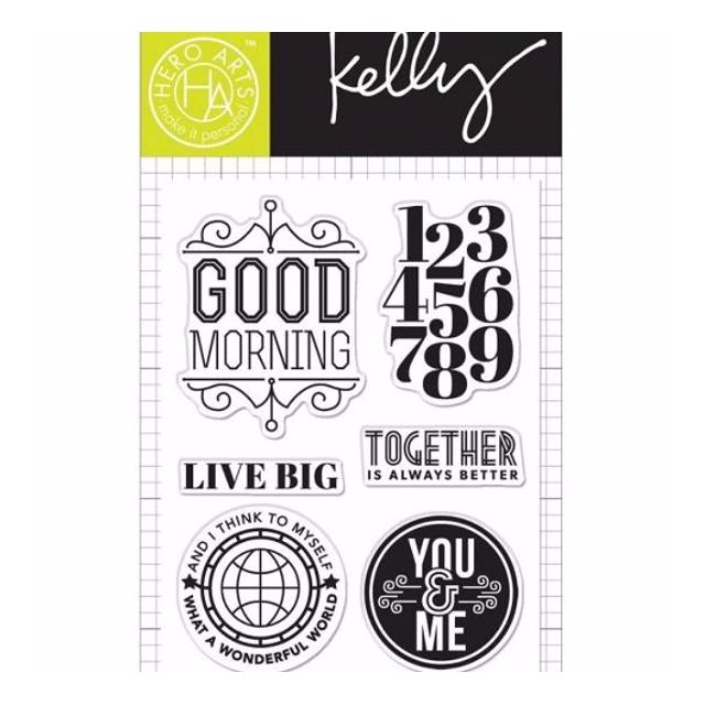 NEW Hero Arts Kelly Purkey Clear Stamps 3 X 4 Live Big