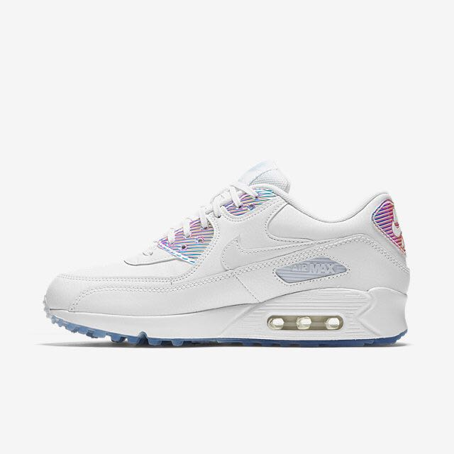 online retailer 985cd a269b Nike Air Max 90 Premium (Women) - White Holographic, Womens Fashion, Shoes  on Carousell
