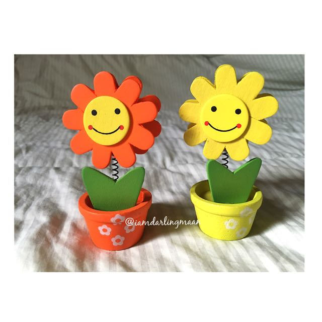 Orange & Yellow Sunflower Photo Holder