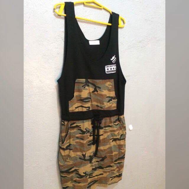 Preloved Army Dress