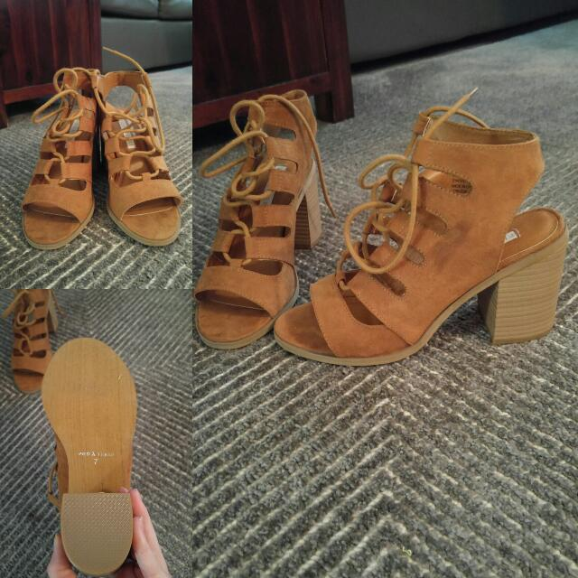 Strapped Chunky Heel Sandals