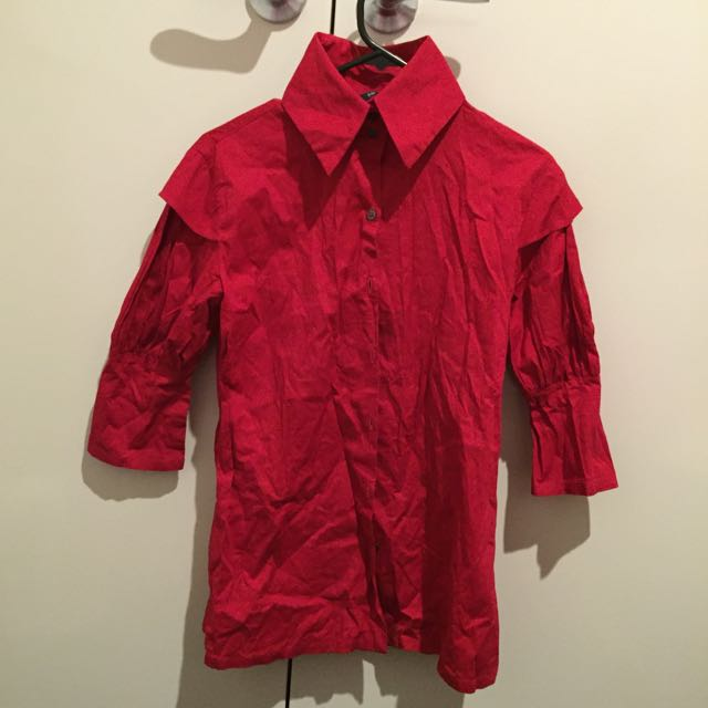 Tyler Red Office Shirt (Size 38)