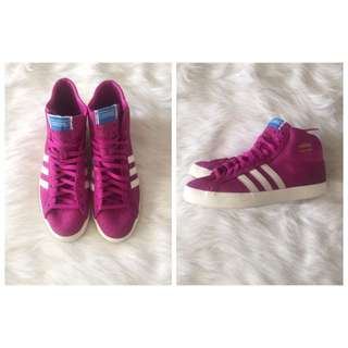 Adidas Purple High Top Basketball Shoes ( Size 7.5)