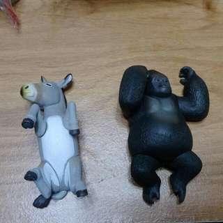 動物園扭蛋 黑猩猩 驢子