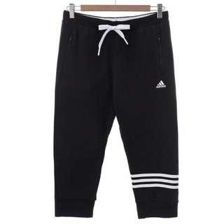 Adidas愛迪達運動七分棉褲 女生L號AP5876