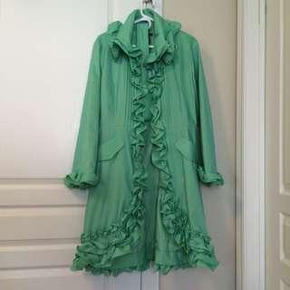 Ruffle Dress Coat Samuel Dong