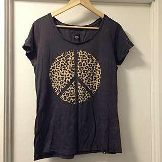 Women's Leopard Peace Shirt