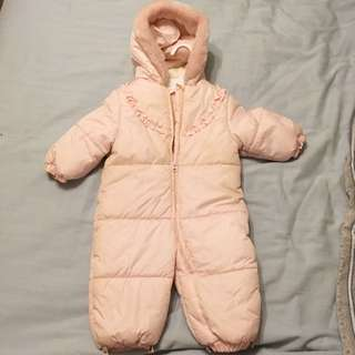 Girls 6-12 Mos Snow Suit