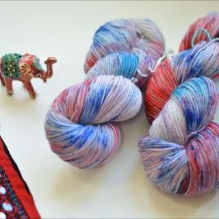 Hand Dyed Yarn | Handdyed Yarn | Superwash | Merino | Cashmere |Nylon | MCN | Wool Sock weight | Hand Dyed