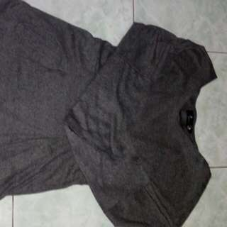 Gray Long Blouse