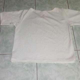 White Semi Crop Top