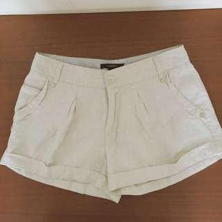 Forever 21 Khaki Linen Hot Pants