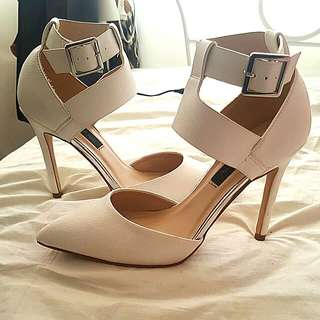 Forever New White Stiletto Heels