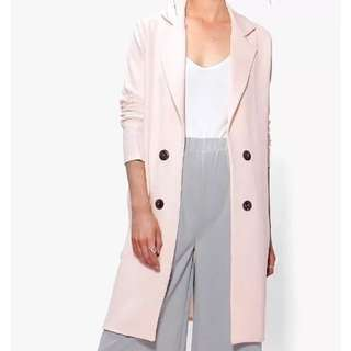 """BOOHOO """"Sophie"""" Double Breasted Pink Lightweight Jacket So 8 Rrp:$54"""