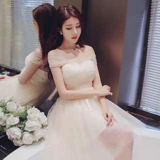 *預*洋裝小禮服謝師宴伴娘香檳色紫色多款多尺寸