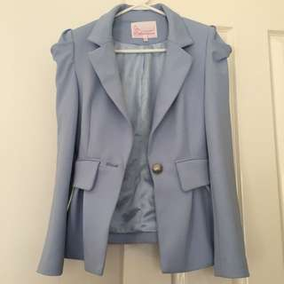 New lady blazer baby blue cute