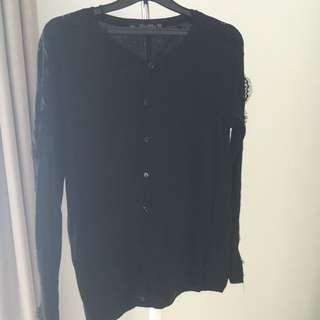 Zara Black Lace Cardigan