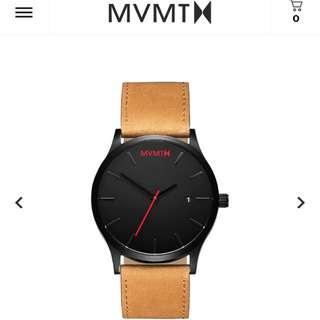 MVMT - Black/Tan Leather Watch